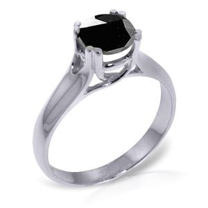 . GOLD SOLITAIRE RING WITH 1.0 CT. BLACK DIAMOND